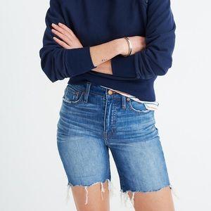 Madewell High Rise Mid Length Denim Shorts 29